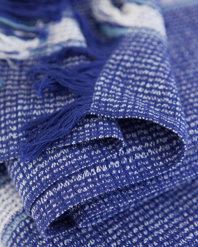 Mungo - Summer Towel - Cobalt - Detail