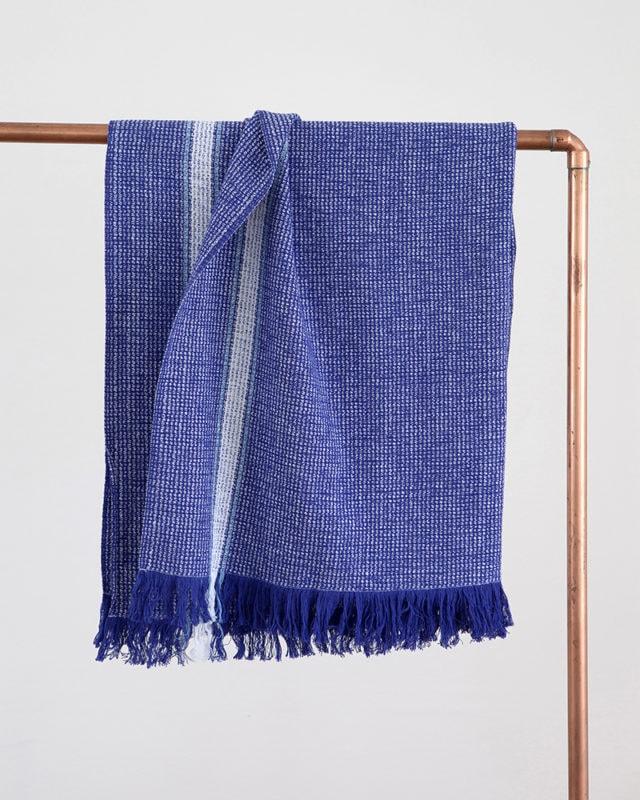 Mungo - Summer Towel - Cobalt - Hanging