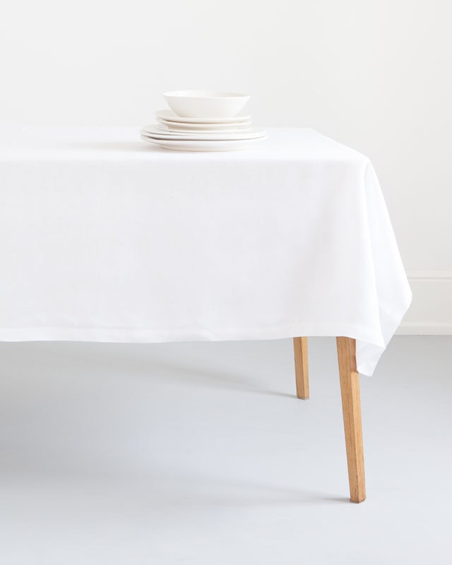 Mungo Kinsail Tablecloth. Cotton & linen blend. Design, made, woven at the Mungo Mill in South Africa