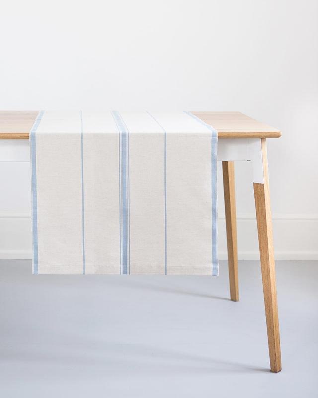 Mungo Lisburn Linen Table Runner. Natural fibre homeware textiles woven in South Africa