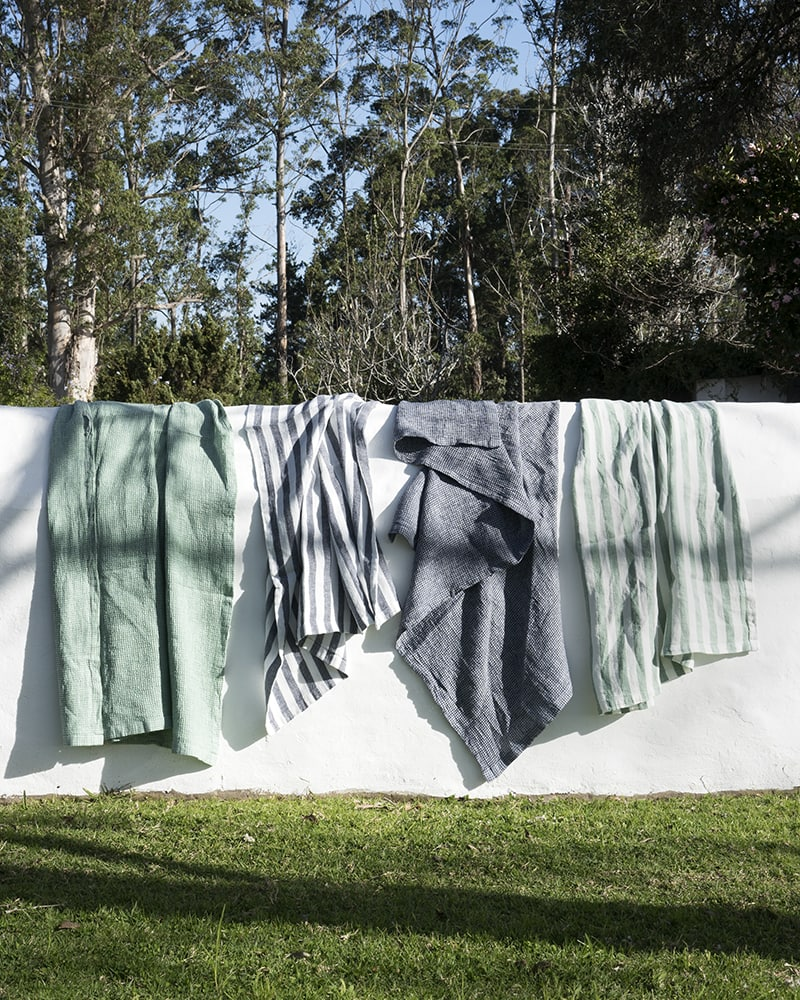 Mungo Dhow Towel. 100% linen bath or beach towel, woven at the Mungo Mill in South Africa
