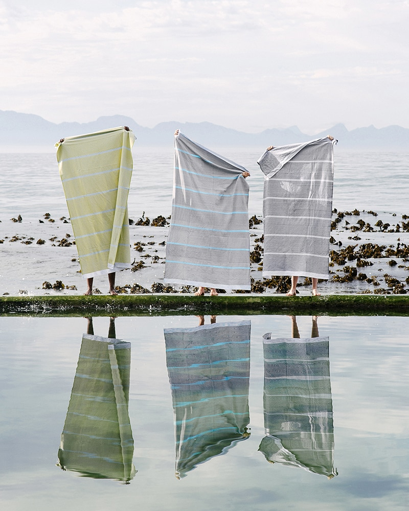 Mungo Tawulo - a cotton flat weave towel with striking design, made in South Africa