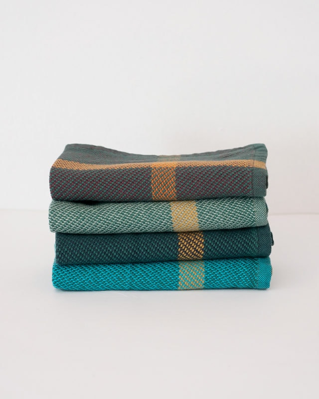 Mungo Washcloth. Colorful pure cotton washcloths, woven at the Mungo Mill in South Africa