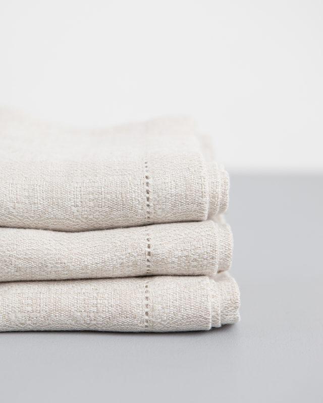 Mungo Cloverleaf Napkins. 100% Linen. Woven in South Africa